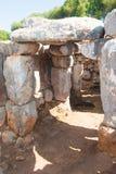 梅诺卡海岛一个史前房子  库存照片