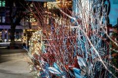梅费尔在圣诞节晚上,伦敦 免版税库存图片