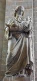 梅赫伦- st Jodeph雕象在教会里我们的横跨de Dyle的夫人 免版税库存图片