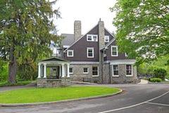 梅里尔在柯盖德大学校园里的房屋建设在Ha 免版税库存照片