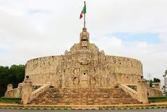 梅里达。对祖国的纪念碑,墨西哥 免版税库存照片