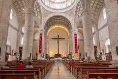 梅里达大教堂壮观的内部在尤加坦,墨西哥 免版税库存照片