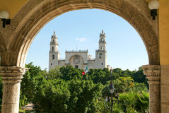梅里达大教堂尤加坦的 免版税库存照片