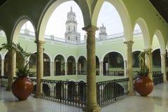 梅里达政府宫殿  免版税库存图片