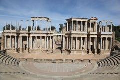 梅里达罗马西班牙剧院 库存图片