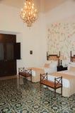 梅里达豪宅的内部卧室 免版税库存照片