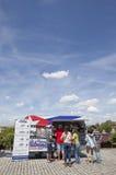 梅里达食物卡车节日2017年,西班牙 库存图片