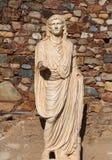 梅里达,埃斯特雷马杜拉,西班牙 皇帝奥古斯都罗马雕象  免版税库存照片