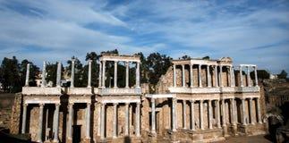 梅里达,西班牙,BC 1世纪罗马剧院  图库摄影