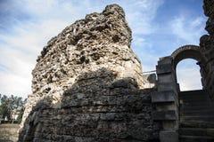 梅里达,西班牙,BC 1世纪罗马剧院  免版税库存照片