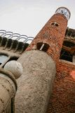 梅霍拉达德尔坎波,马德里,西班牙;12-12-2010:胡斯托加列戈马丁内斯大教堂  塔和外部细节这extravagan 库存照片