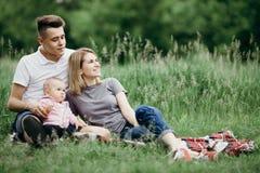 梦想、幸福、生活方式、父母身分、爱和统一性 库存图片