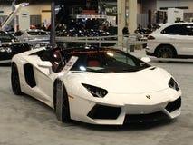 梦想中的汽车Lamborghini aventador 免版税库存照片