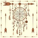 梦想俘获器箭头,小珠,种族印地安人 免版税库存照片