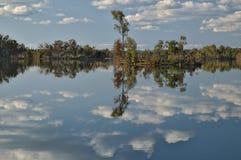 梦想和平安的湖 库存照片