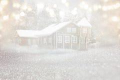 梦想和抽象不可思议的冬天风景照片 免版税图库摄影
