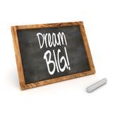 梦想大概念黑板 免版税库存照片
