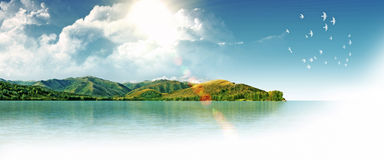 梦想海岛 库存图片