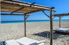 梦想海滩假日在古巴 库存图片