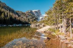 梦想湖,落矶山,科罗拉多,美国 免版税库存图片