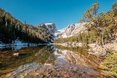 梦想湖,落矶山,科罗拉多,美国 图库摄影