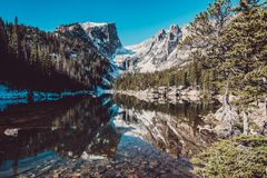 梦想湖,落矶山,科罗拉多,美国 免版税图库摄影