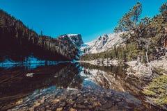 梦想湖,落矶山,科罗拉多,美国 库存图片