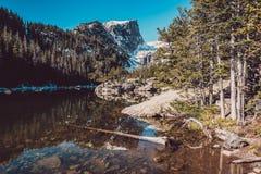 梦想湖,落矶山,科罗拉多,美国 免版税库存照片