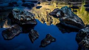 梦想湖洛矶山国家公园 免版税库存照片
