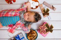 梦想生活 孩子的圣诞节奇迹 免版税库存照片