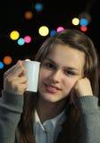 梦想的女孩年轻人 免版税库存照片