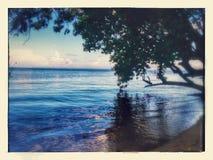 梦想的海滩视图 免版税库存图片