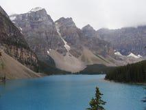 梦莲湖,亚伯大,加拿大 免版税库存照片