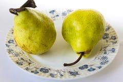 梨成熟黄色 免版税库存照片