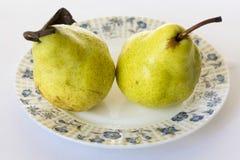 梨成熟黄色 库存照片
