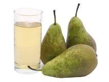 梨汁和梨 免版税图库摄影