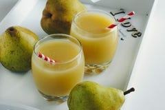 梨汁 免版税库存照片