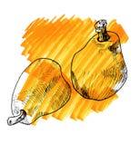梨的葡萄酒例证 库存图片