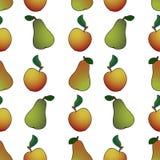 梨苹果摘要 免版税库存图片
