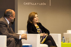 梭拉育Saenzz de Santamariaa,副总理大臣  库存图片