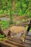 梯子和桥梁 图库摄影