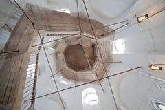 梯子在圣洁复活大教堂里 库存图片