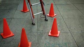 梯子在您的城市 图库摄影