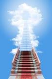梯子天空 免版税库存图片