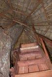 梯子屋顶 免版税库存照片