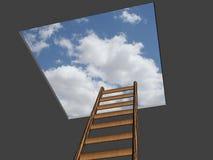 梯子成功 免版税库存照片