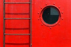 梯子舷窗 库存图片