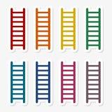 梯子贴纸集合 库存例证