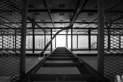 梯子黑色 库存照片