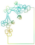 梯度与三叶草等高的颜色框架 光栅剪贴美术 图库摄影